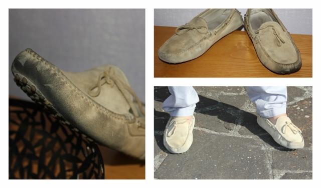 pulire le scarpe sporche