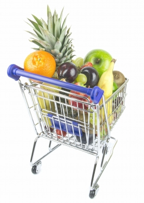 "Fresh Fruit In Shopping Trolley"" by Grant Cochrane"