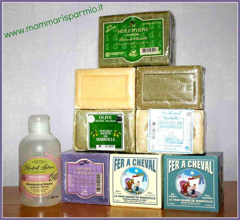 sapone di Marsigli diversi tipi a confronto