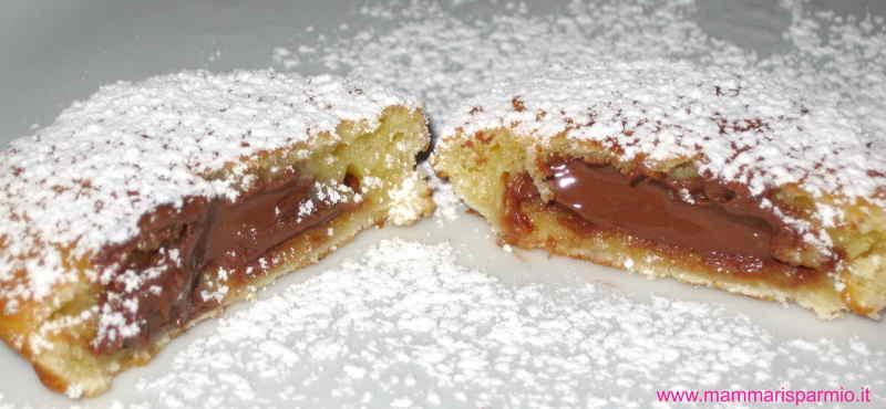 ravioli frittelle ripiene di Nutella per Carnevale