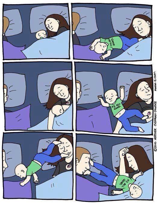 problemi di sonno se il bimbo non dorme vignette bebè mamma