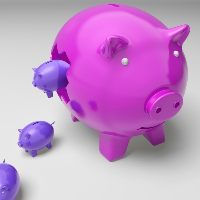 """Piggybanks Inside Piggybank Shows Investment Revenues"" by Stuart Miles"