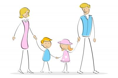 """Quattro, è questo il numero della famiglia perfetta? """"Parents With Two Kids"""" by digitalart"""