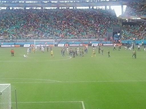 Fine del match