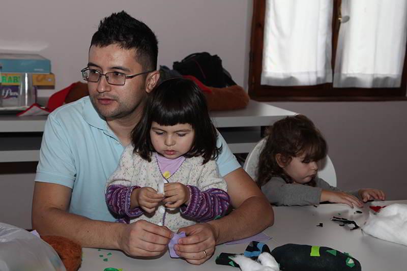 Papàrisparmio con Babyrisparmio durante il laboratorio organizzato per i bambini