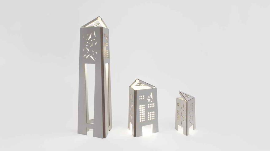 Lampade e mobili con cartone riciclato cartunia design - Mobili di cartone design ...