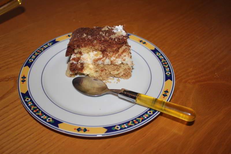 torta cioccolato e cocco con noci