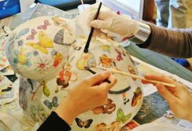 calco del pancione decorato