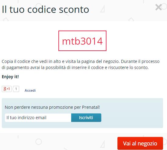 codice sconto online