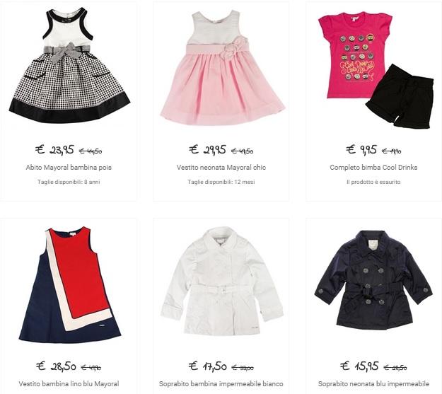 abbigliamento online neonato