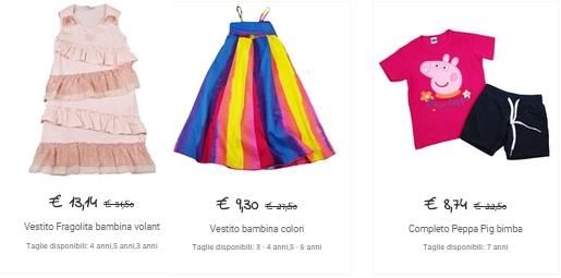 abiti per bambini poco prezzo