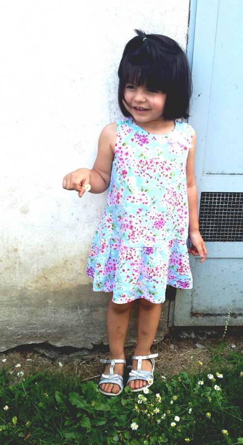 vestitino bambina a fiori