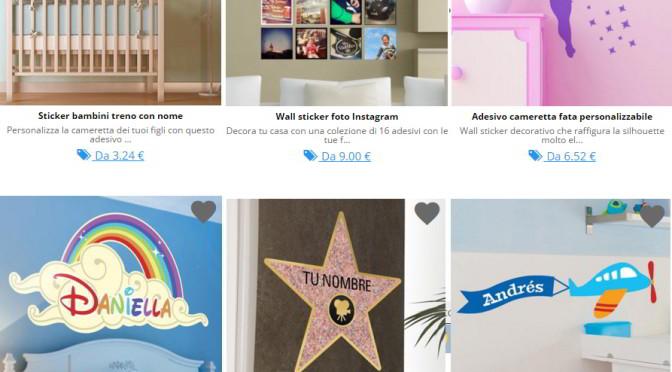 sticker personalizzati per camerette