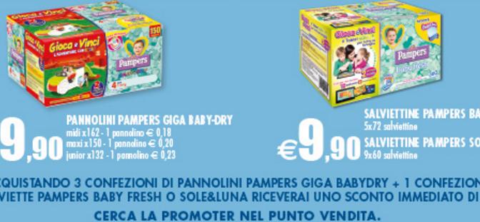 OFFERTA PANNOLINI PAMPERS E RICEVI UN BUONO DA 15 EURO DA AUCHAN