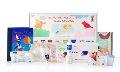 Il pacco di benvenuto per i nuovi nati del comune di milano