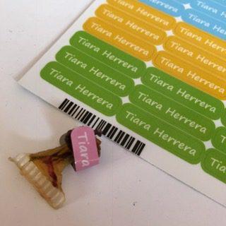 etichette scuola