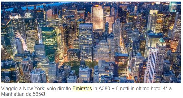 promozione emirates dubai