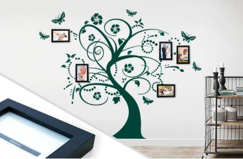 adesivo murale albero famiglia