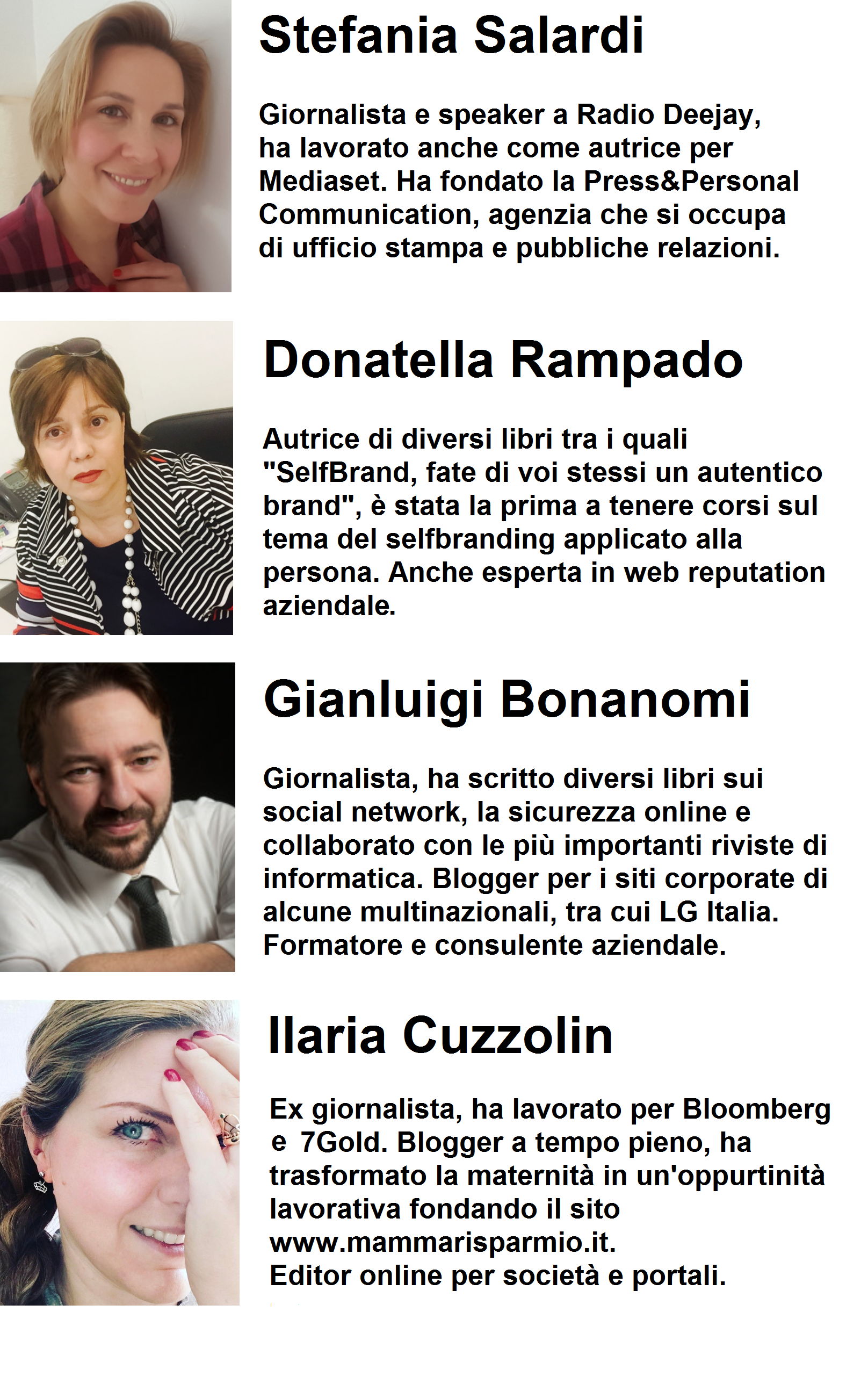 corso influencer blogger