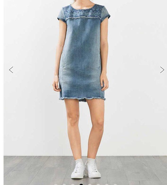 abito corto in jeans