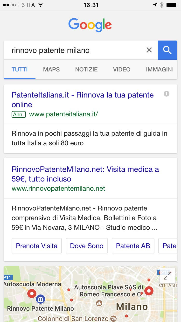 rinnovo patente milano costi